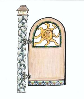 Garden Gate- Healing Sun -color example 1