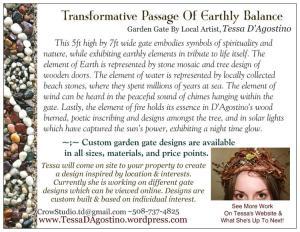 Garden Gate Postcard BACK-Tessa D'Agostino-HyArts Campus Summer 2014