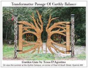 Garden Gate Postcard FRONT-Tessa D'Agostino-HyArts Campus Summer 2014
