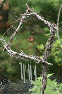 Rustic Garden Art For Climbing Plants or Flower Pot Decoration
