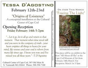 Tessa D'Agostino_Origins of Existence_Postcard Back 2014